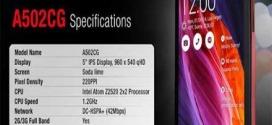 Asus ZenFone 5 Lite Smartphone with Intel Atom Z2520 Processor
