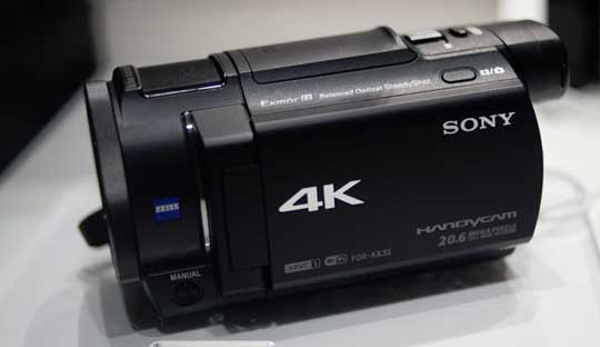 Sony-FDR-AX33-Handycam-Camcorder-with-4K-recording-unveil-at-CES-2015