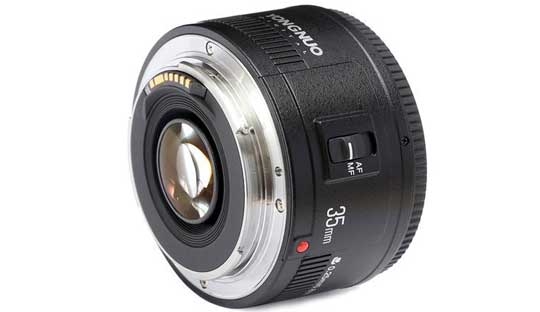 Yongnuo 35mm f/2 Lens for Canon EF Mount EOS Camera in $249
