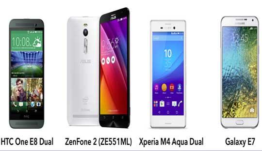 Asus-ZenFone-2-vs-Sony-Xperia-M4-Aqua-vs-HTC-One-E8-vs-Samsung-Galaxy-E7-Specifications-Comparisons
