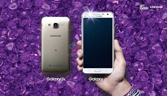 samsung galaxy j5 and galaxy j7 5mp front camera with led flash launched. Black Bedroom Furniture Sets. Home Design Ideas