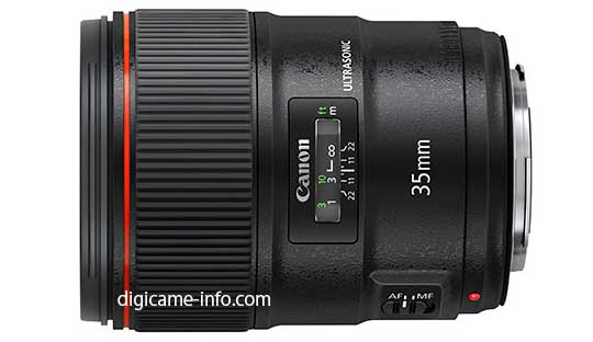 Canon EF 35mm f 1.4L II Lens Specifications and Image Leaked