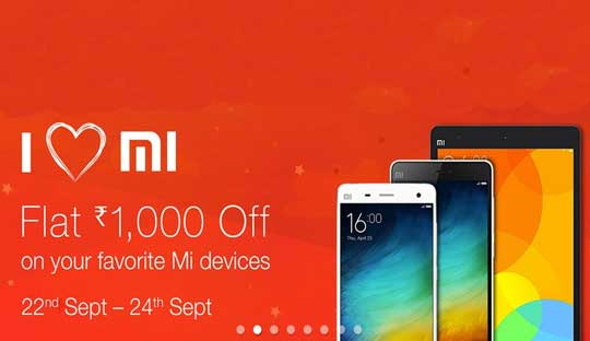 Flat Rs. 1000 Discount on Xiaomi Mi Devices only on Amazon.in