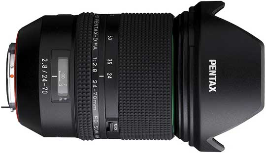 PENTAX D FA 24-70mm f2.8ED SDM WR Lens Launched