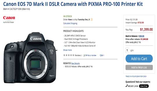 Canon 7D Mark II Reviews by Professionals