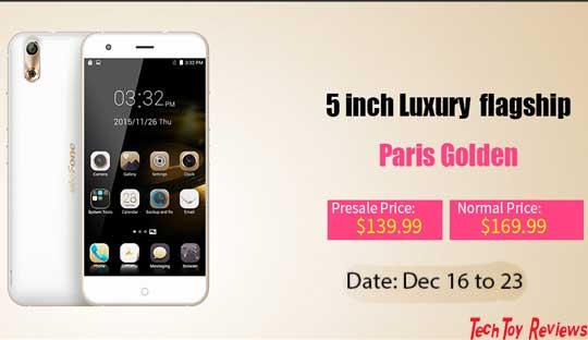 Ulefone Paris Golden Specifications