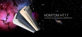 Homtom HT17 World's first Smartphone with MTK6737, Android 6.0 and Fingerprint Sensor