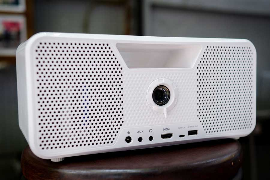 Flicks Mobile Cordless Boombox Projector