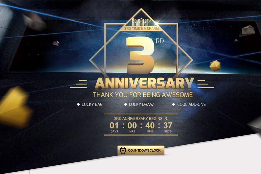GearBest 3rd Anniversary Sale