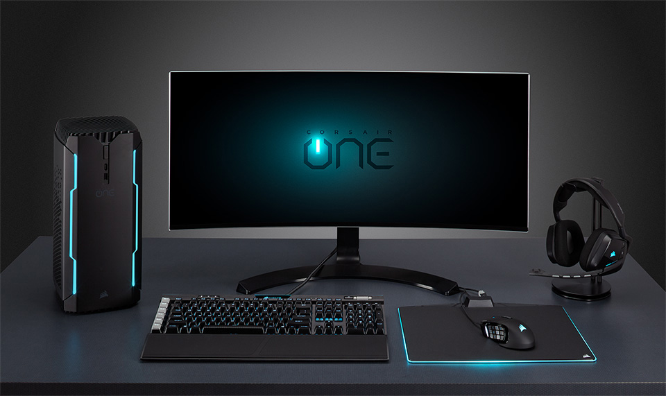 corsair launches corsair one gaming pc lineup gtx 1080 ti vr ready. Black Bedroom Furniture Sets. Home Design Ideas