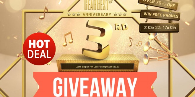 GearBest 3rd Anniversary Sale Day 3: Xiaomi Giveaway, Deals, Coupons
