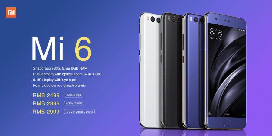 Xiaomi Mi 6 Price