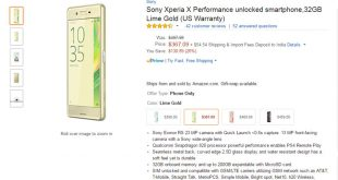 unlocked Sony Xperia X Performance price in usa