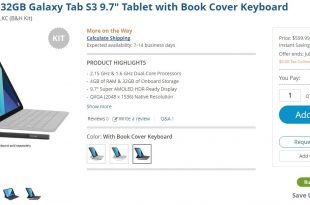 Galaxy Tab S3 with Book Cover Keyboard