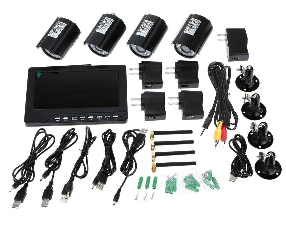 Four Channel Wireless Security Camera System