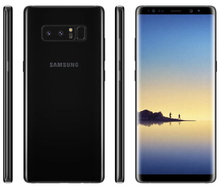 Samsung Galaxy Note 8 Midnight Black And Gold Color Renders By Evan Blass