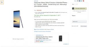 Unlocked Galaxy Note 8 Price Amazon
