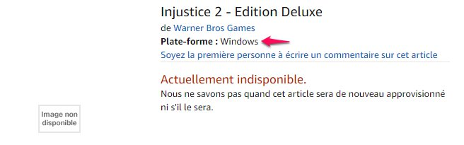 Injustice 2 PC amazon