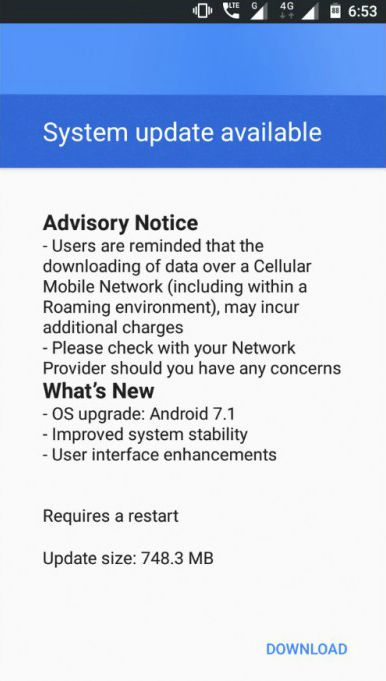 nokia 3 android 7 update