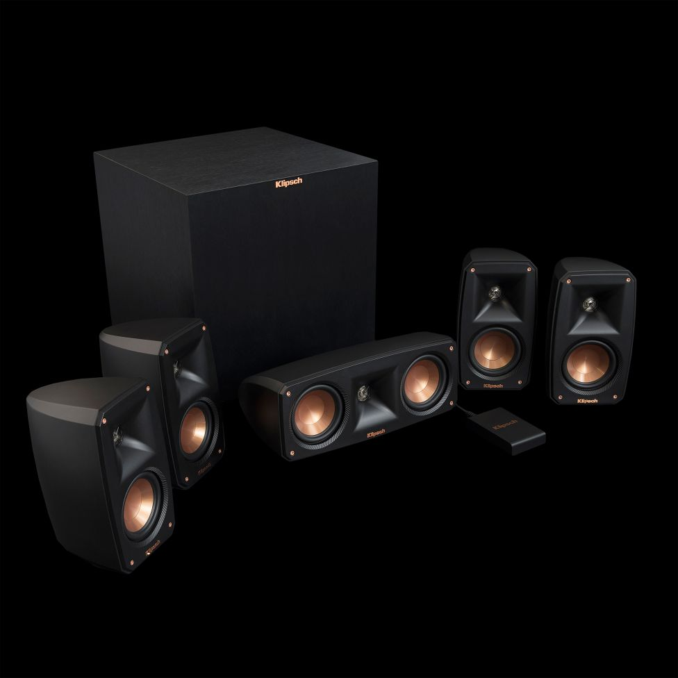 klipsch reference theater pack 5 1 sound system with. Black Bedroom Furniture Sets. Home Design Ideas