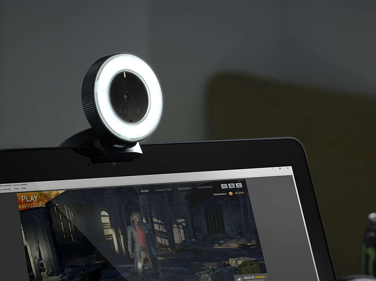 Razer Kiyo Webcam With Led Ring And Seiren X Microphone