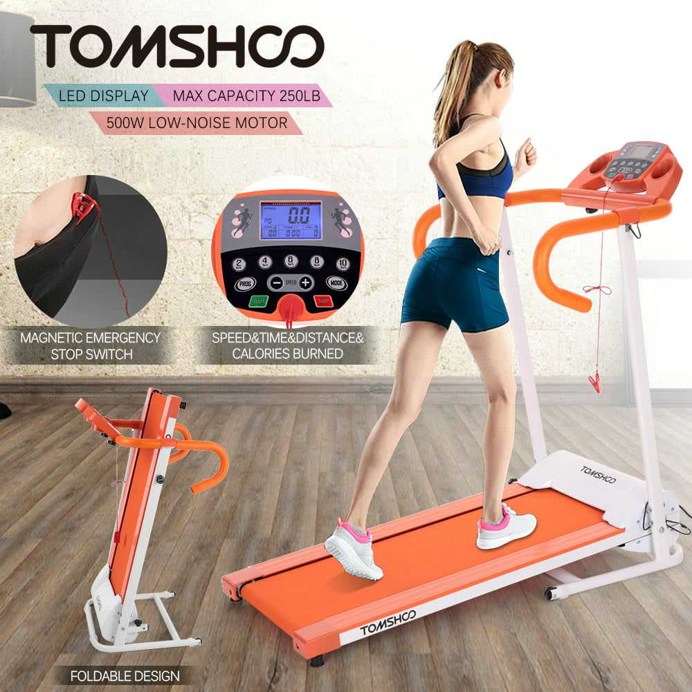 Tomshoo 500 W Treadmill electric running jogging machine home gym workout fitness machine