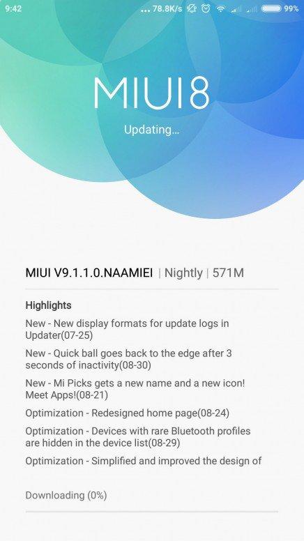 MIUI 9 Stable Xiaomi Mi 5