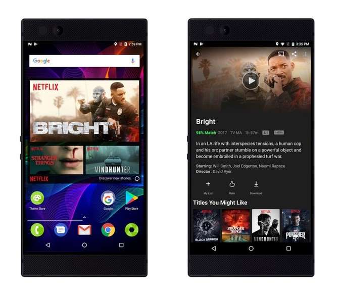 Razer Phone Netflix HDR Dolby Digital Plus 5