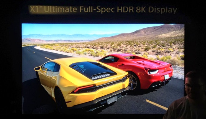 sony 8k display