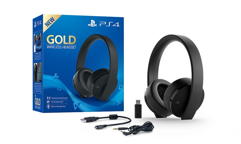 Gold Wireless Headset PS4