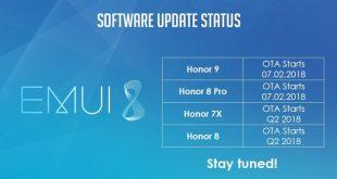 Honor 8 Honor 7X Android Oreo