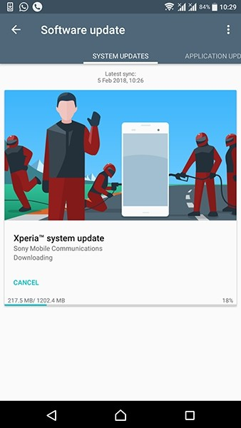 Sony Xperia X Compact Android Oreo Update