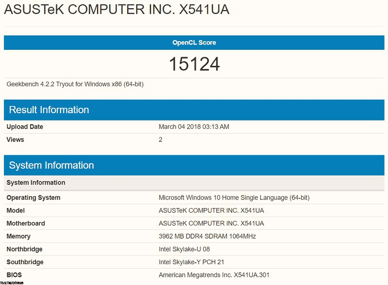 Asus X541UA performance