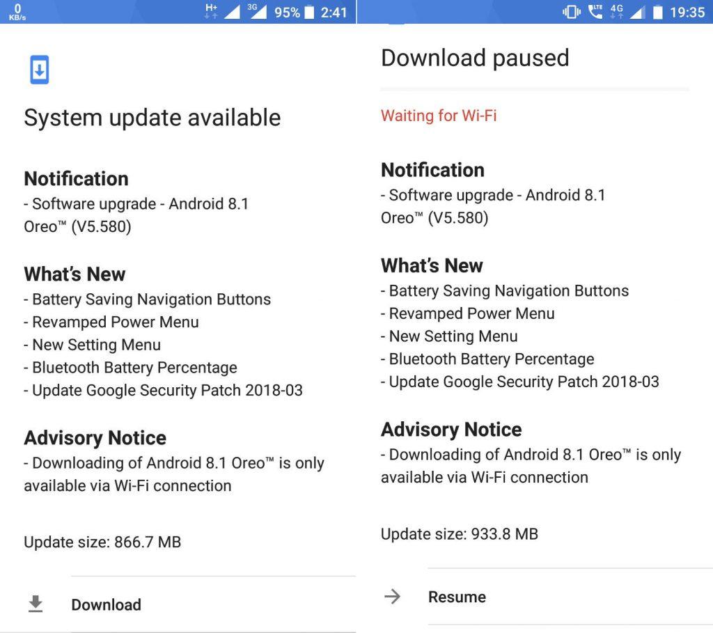 Nokia 5 Nokia 6 Android 8.1 Oreo Update