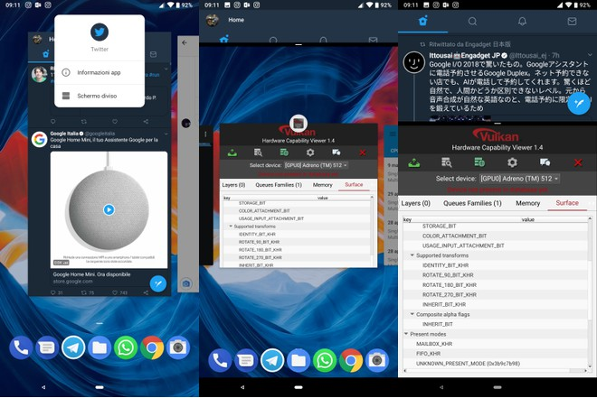 Split Screen Android P DP2
