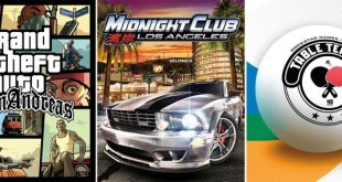 GTA San Andreas, Midnight Club Los Angeles and Table Tennis on Xbox One