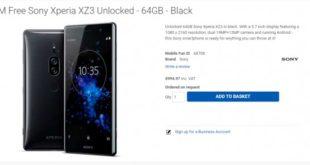 Sony Xperia XZ3 Price