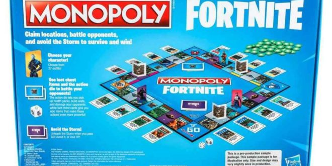 Fortnite Monopoly Board Game Will Debut On October 1st