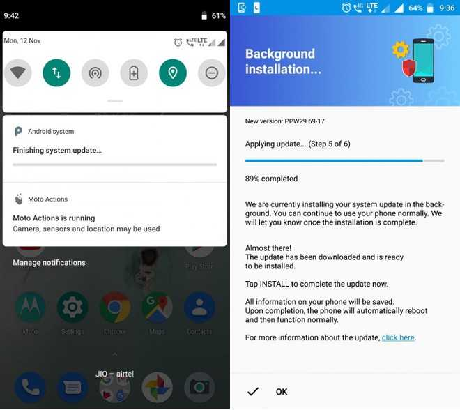 Moto X4 Android 9 Pie Stable Update