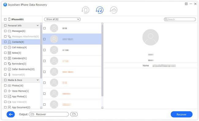 Joyoshare iPhone Data Recovery for Windows