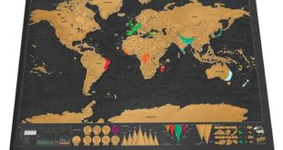 Scratch World Map Travel Edition