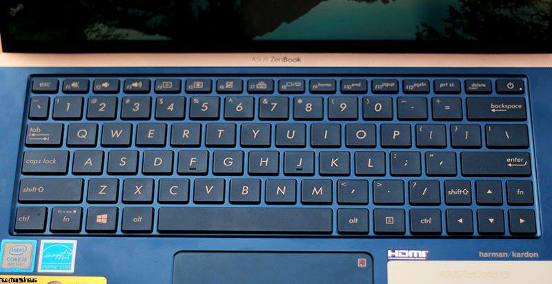 Asus ZenBook UX333FA keyboard