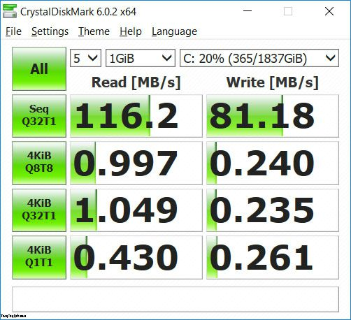 Lenovo Legion Y530 HDD speed