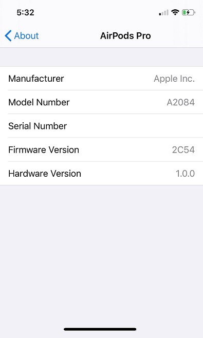 Apple AirPods 2 and AirPods Firmware Update