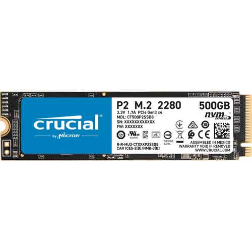 Crucial P2 M.2 PCIe NVMe SSD