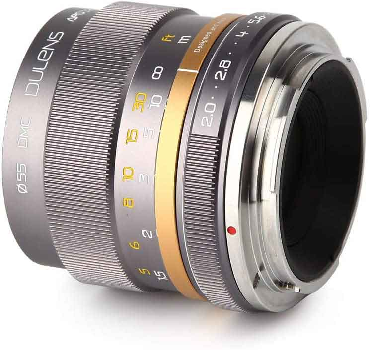 DULENS APO 85mm F2.0 Apochromatic Lens for Canon EF