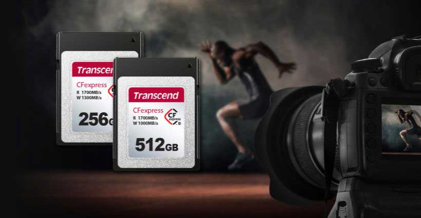 Transcend 820 CFexpress Type B Memory cards