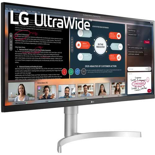 LG UltraWide 34WN650-W Display Monitor