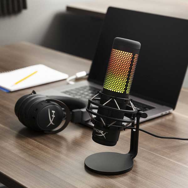HyperX QuadCast S USB Condenser Microphone with RGB