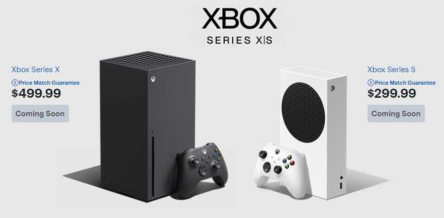 Xbox Series X and S pre order, price